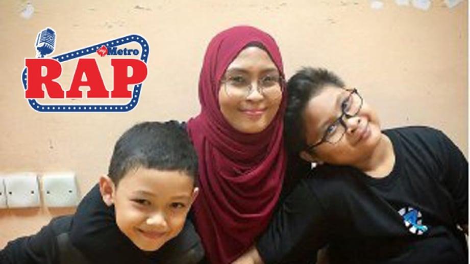 Nana bersama Raqqim dan Rayyan. FOTO IG Siti Nordiana