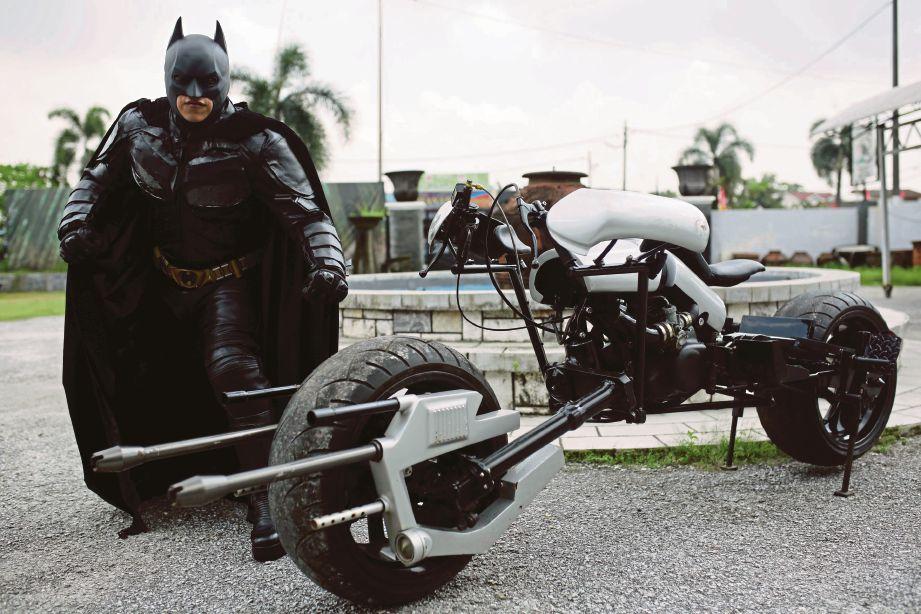 BATMAN Malaysia bersama Batpod. FOTO/SYARAFIQ ABD SAMAD
