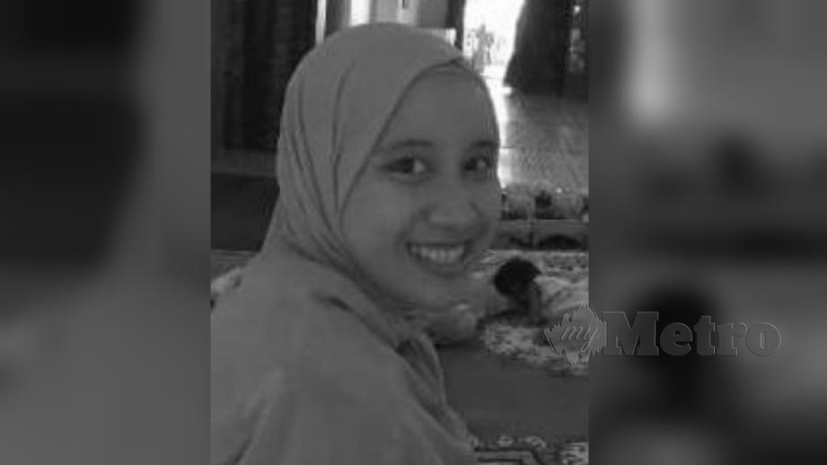 PEMBANTU penyelia kedai perkakas rumah, Nur Yusrah Othman yang maut dalam kemalangan di kilometer 60 Jalan Teluk Intan-Klang, berhampiran Batu 23, Sungai Nibong, malam tadi. FOTO Ihsan Pembaca