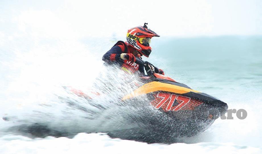 FIKRY bakal menyertai perlumbaan jet ski di Pattaya, Thailand pada Disember nanti.