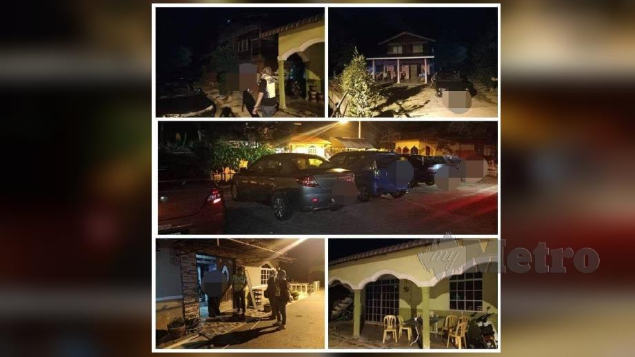 Anggota polis membuat pemeriksaan ke rumah bagi mengesan perantauan pulang berhari raya di kampung. FOTO IHSAN PDRM.