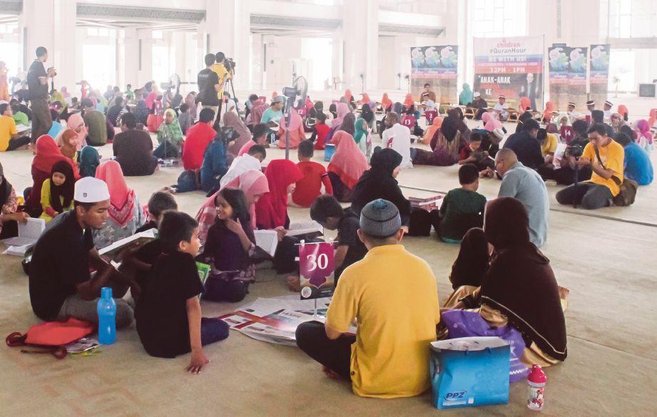 SEBAHAGIAN 500 peserta menyertai Kanak-Kanak #QuranHour, semalam.