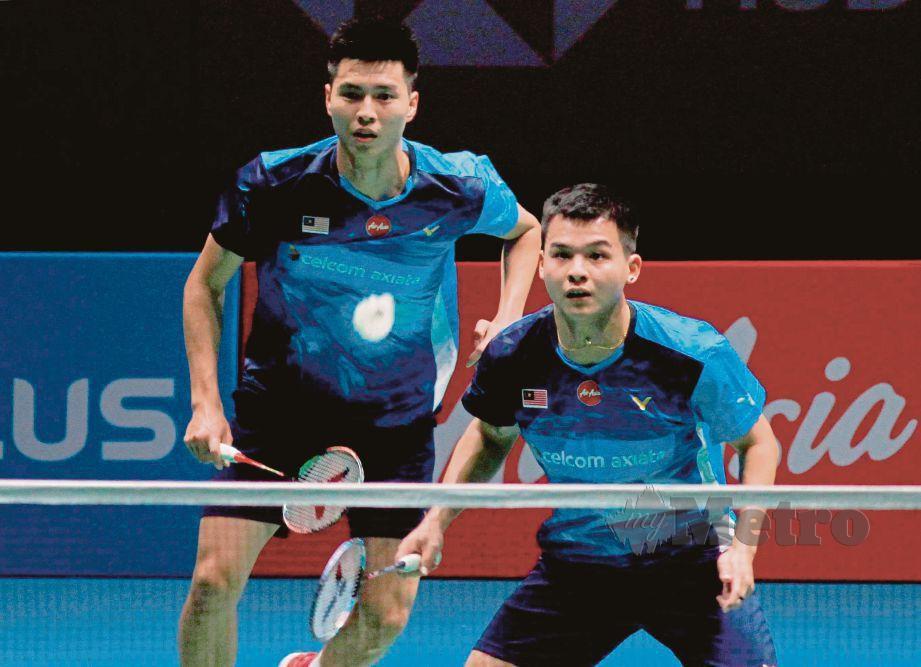 Beregu lelaki negara, Ong Yew Sin bersama Teo Ee Yi mara pusingan kedua Masters Thailand. FOTO File NSTP