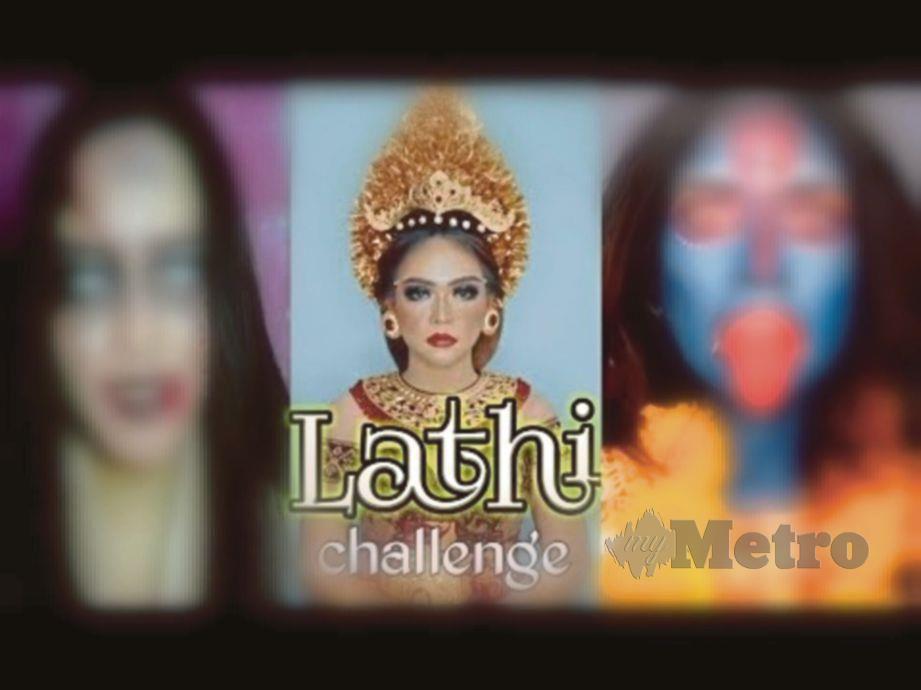 LATHI Challenge mengubah seseorang daripada tidak bersolek   kepada solekan  menakutkan.
