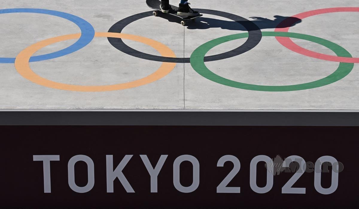 LOGO Sukan Olimpik Tokyo 2020. FOTO AFP