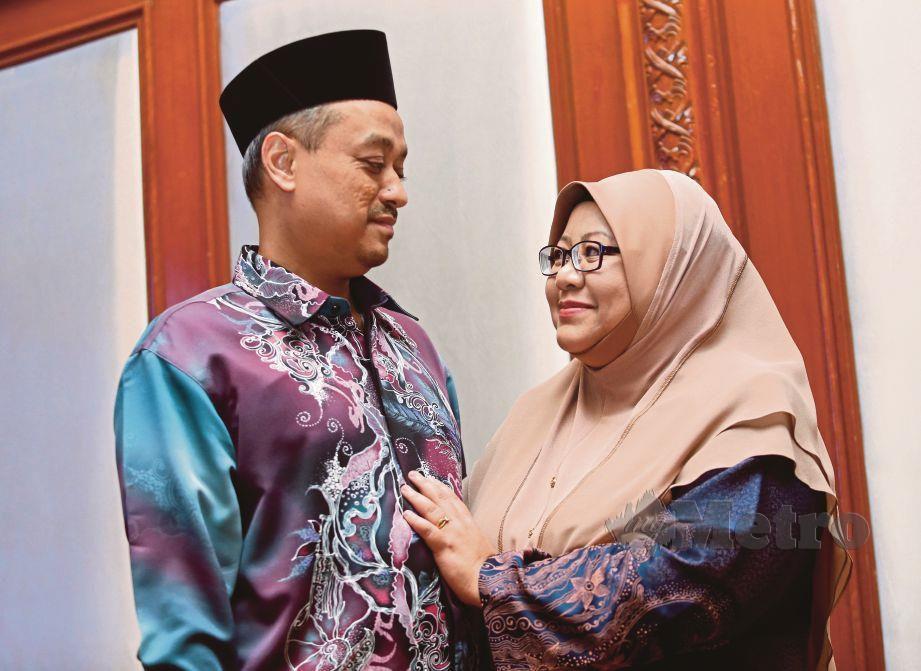 NATRAH dan Sazali antara penerima tajaan rawatan IVF TAFF pada Hari Keluarga TAFF 2019.