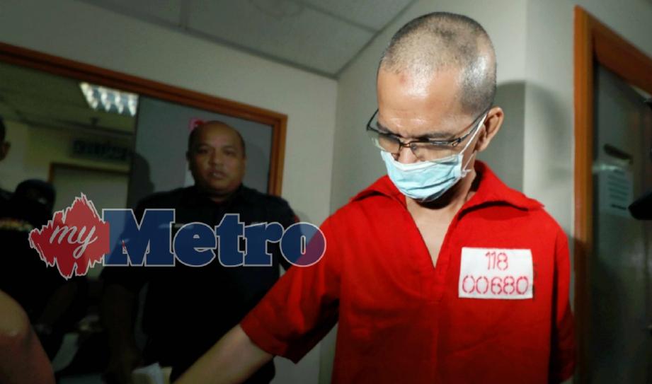 ZAHARI Alwi ketika dihadapkan di Mahkamah Ampang Februari lalu. FOTO Rosdan Wahid