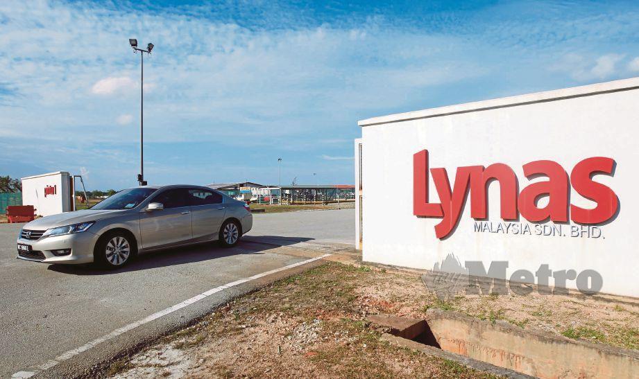 KAWASAN kilang pemprosesan nadir bumi Lynas di Kawasan Perindustrian Gebeng.