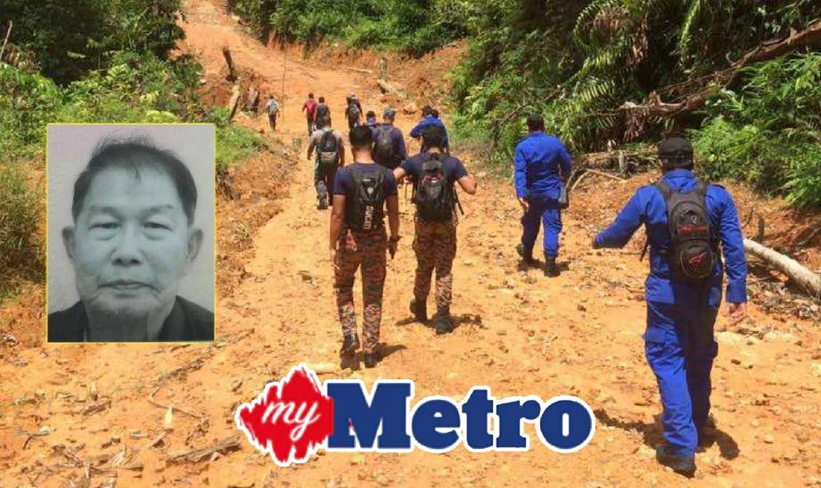 OPERASI SAR mangsa yang dikhuatiri hilang di Hutan Simpan Lebir, Aring 8, Gua Musang sejak semalam. FOTO Ihsan Bomba dan Ramli Ibrahim