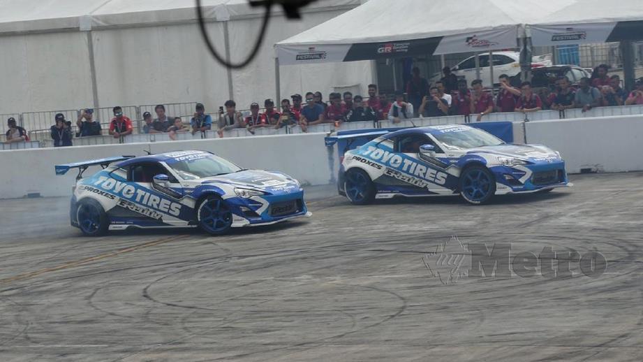 ANTARA aktiviti yang diadakan sempena Toyota Gazoo Racing Festival di Bandar Malaysia, Sungai Besi. FOTO Zulfadhli Zulkifli