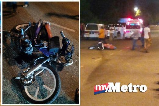 KEADAAN kenderaan terbabit kemalangan. FOTO ihsan pembaca