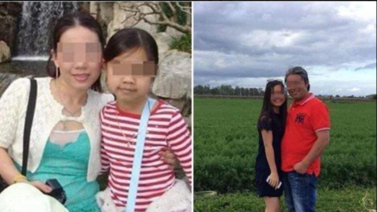 WANITA itu bersama anak angkatnya (kiri) dan suaminya bersama anak angkat mereka  (kanan). FOTO AGENSI