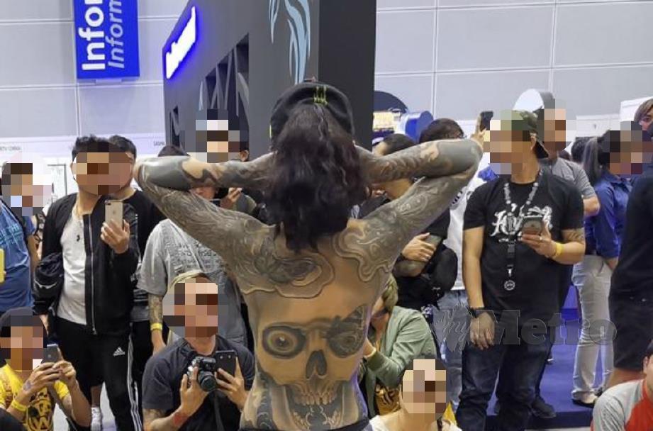 KEMENTERIAN Pelancongan Seni dan Budaya (MOTAC) akan mengambil tindakan sewajarnya ke atas penganjur Tattoo Malaysia Expo 2019, susulan peragaan separuh bogel diadakan pada acara itu. FOTO Tular