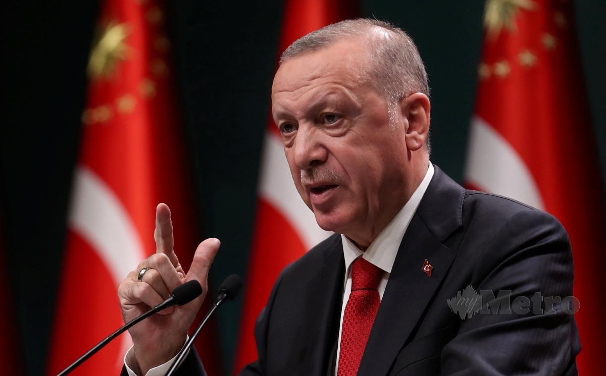 Presiden Turki, Recep Tayyip Erdogan. FOTO AFP