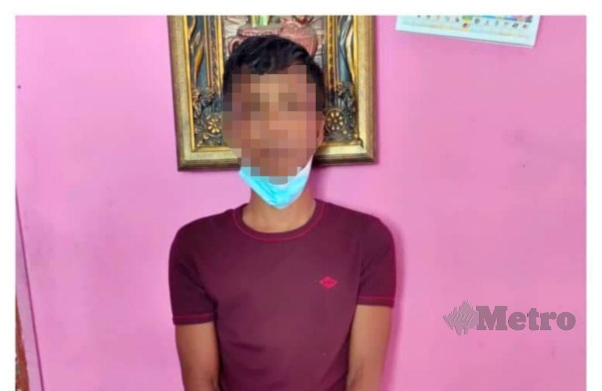 Seorang lelaki berusia 26 tahun ditahan polis bersama barang dipercayai barangan curi selepas terbabit dalam kes mencuri wang di dalam kereta di Site B Tambahan, 11 November lalu. FOTO IHSAN POLIS