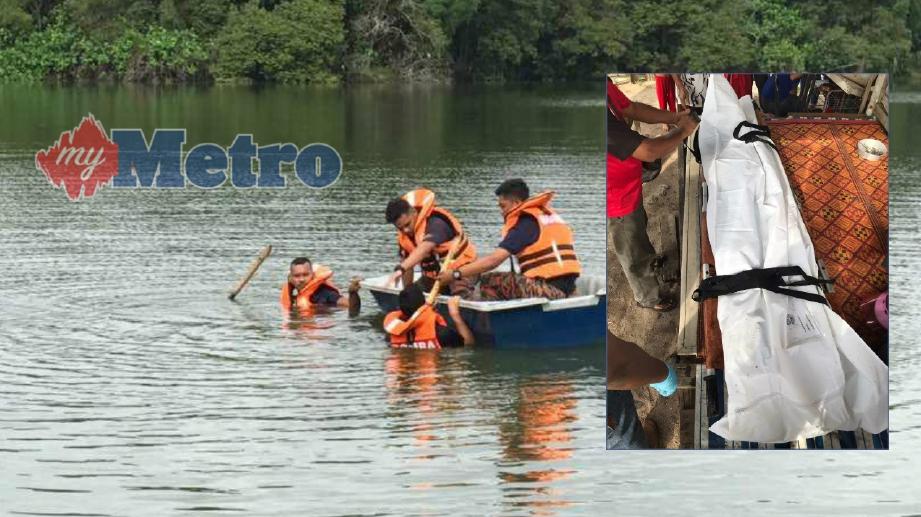 BOMBA sedang menjalankan operasi mencari dan menyelamat mangsa yang lemas. FOTO Ihsan Bomba