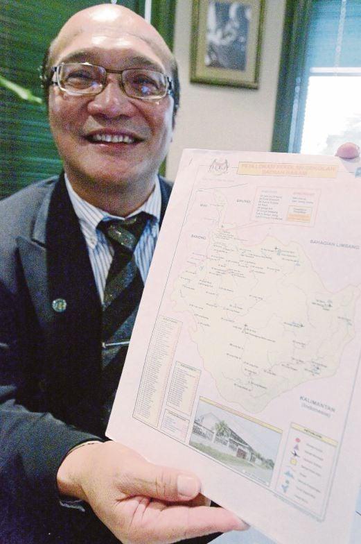 YUNOS menunjukkan peta kedudukan sekolah di Baram.