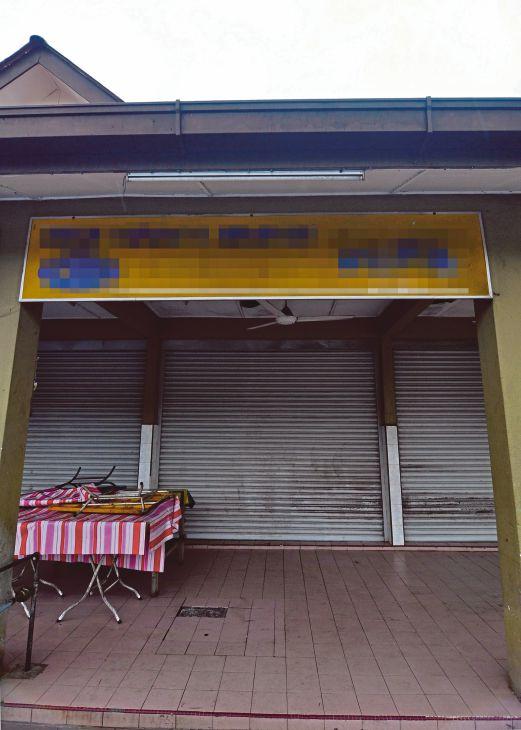 GERAI makan di Medan Selera Pantai Klebang yang diarah tutup