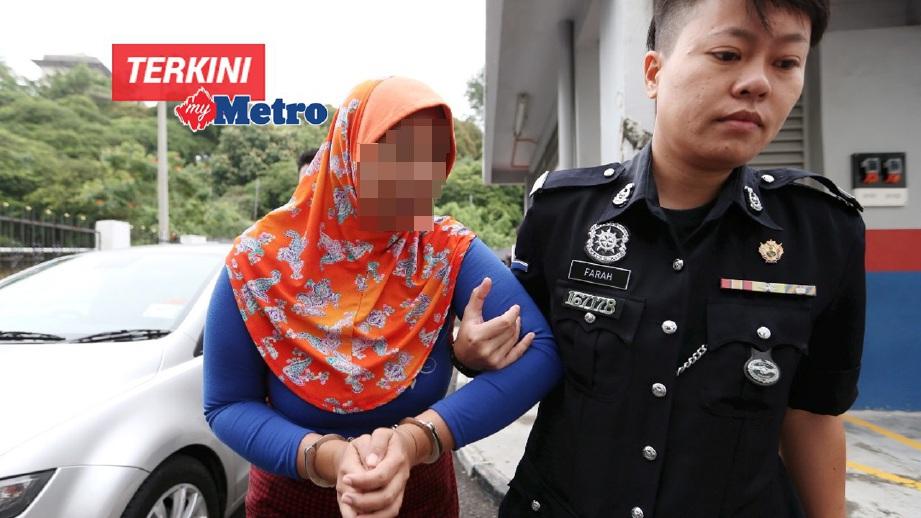 IBU tunggal yang berdepan pertuduhan menganiaya dan melacurkan dua anak kandungnya dijatuhi hukuman penjara 75 tahun oleh Mahkamah Sesyen Johor Bahru. FOTO Mohd Azren Jamaludin