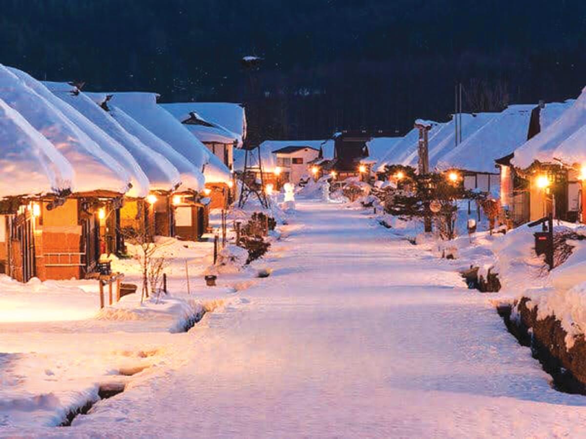 DESTINASI Tohoku juga popular ketika musim salji.