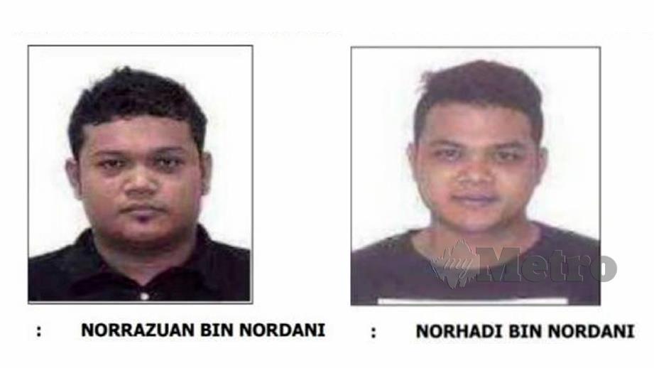 NORRAZUAN dan Norhadi  dikehendaki bagi membantu siasatan kes pecah rumah. FOTO ihsan Polis