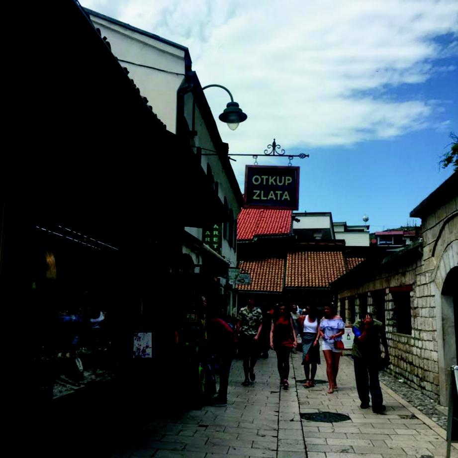 BANDAR lama di tengah kota Sarajevo.