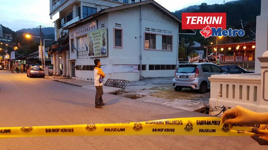 LOKASI kejadian suspek mati ditembak. FOTO ihsan Polis