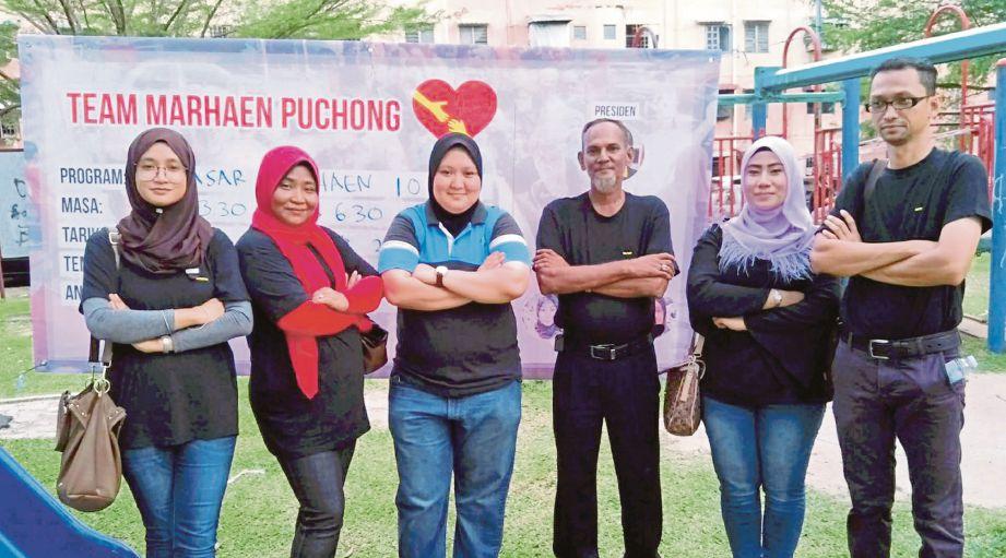 DARI kiri, Noorita, Salmi, Nur Farhana, Talhat, Siti Zuraidah dan Zaihasri.