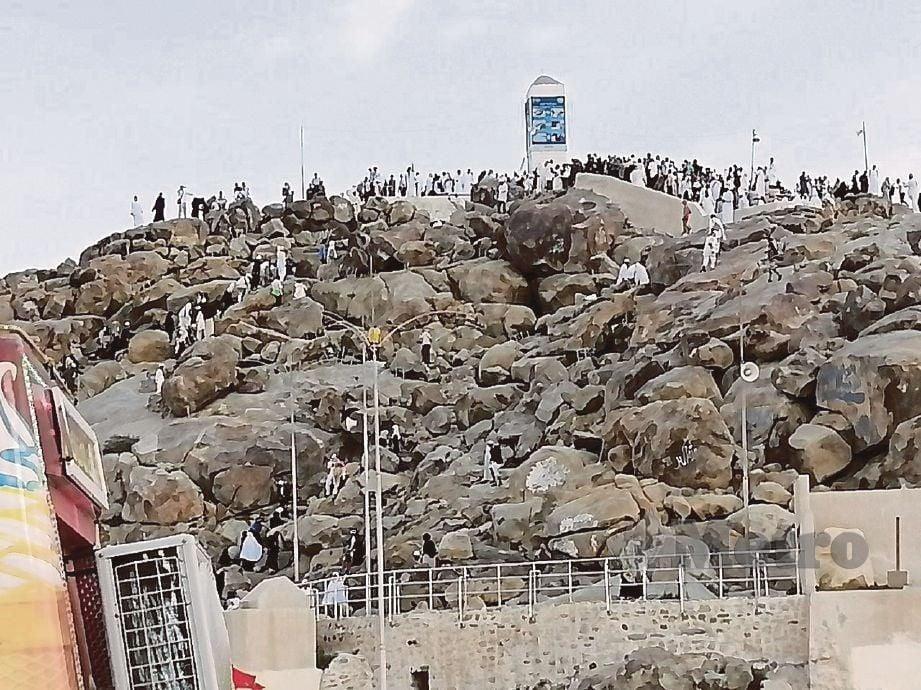 SUASANA di sekitar Jabal Rahmah yang menyaksikan tiga peristiwa agung membabitkan tiga nabi Allah.