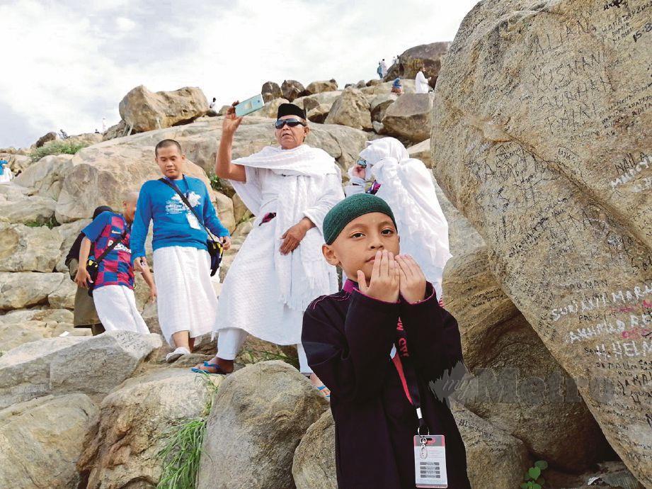 ANAK penulis menitip doa di Jabal Rahmah.