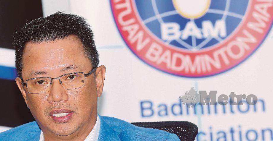 Presiden Persatuan Badminton Malaysia, Datuk Seri Mohamad Norza Zakaria. FOTO File NSTP