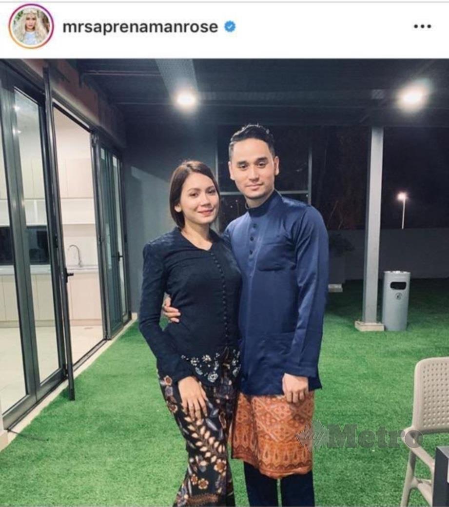 APRENA bersama suami, Mohd Afiq. FOTO: Instagram Aprena