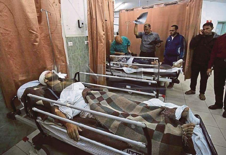 RAKYAT Gaza yang cedera dalam serangan oleh tentera Israel. FOTO/EMAIL