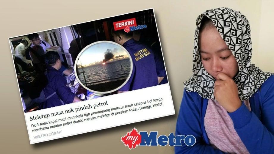 SITI Murni sebak ketika ditemui di luar ICU HWKKS, Kota Kinabalu.
