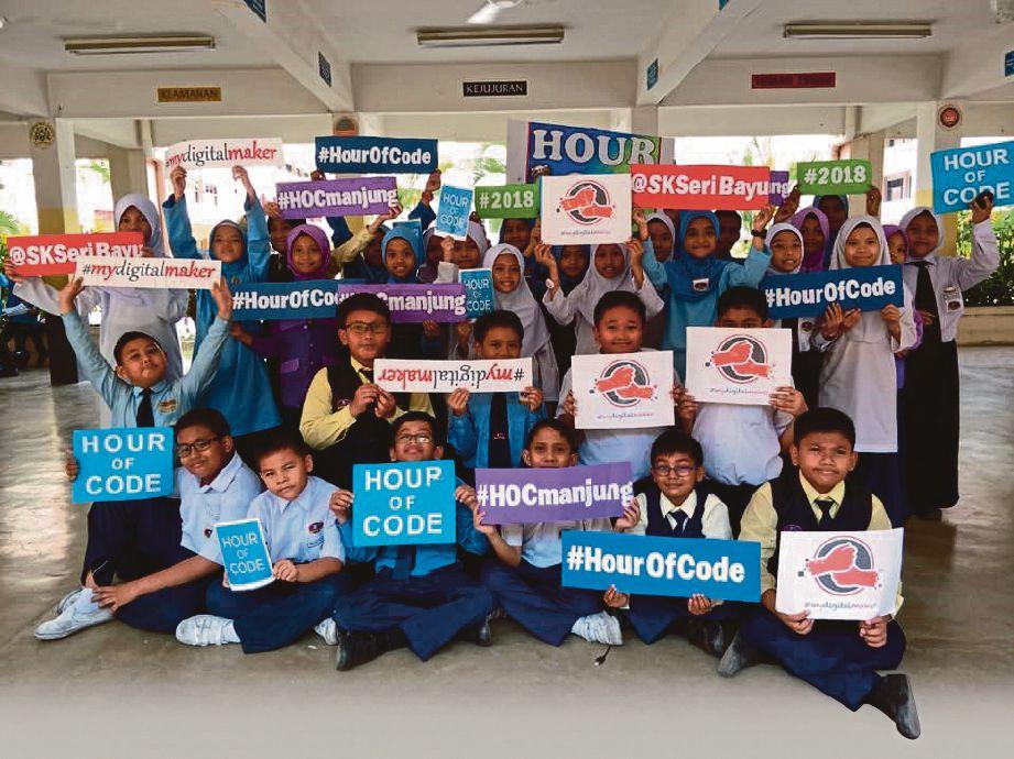 MURID SK Seri Bayu Wawasan, Manjung, Perak yang menyertai program HOC.
