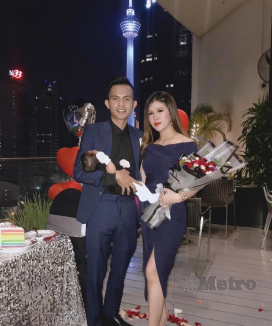 TAJUL bersama isteri, Nurul Syamieza yang dinikahi pada 10 Disember 2017.