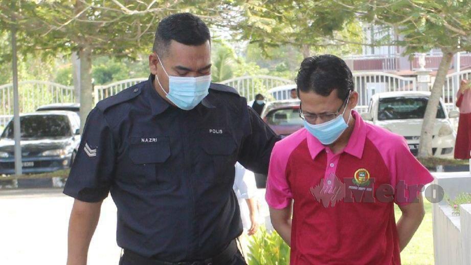 MUHAMMAD Nursalam didakwa lima pertuduhan merogol dan meliwat pelajar berusia 14 tahun. FOTO Nik Abdullah Nik Omar