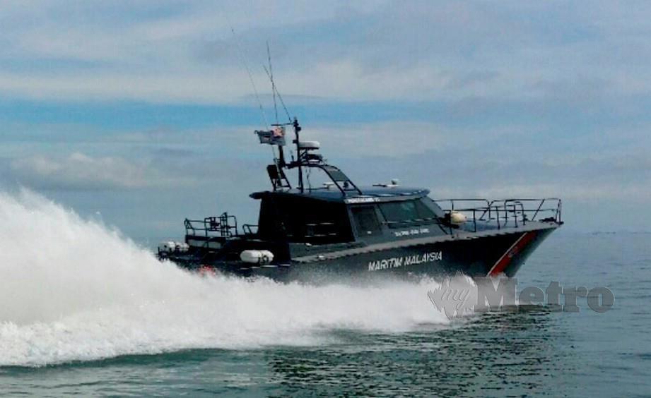 Maritim Malaysia ketika menjalankan rondaan. FOTO NSTP