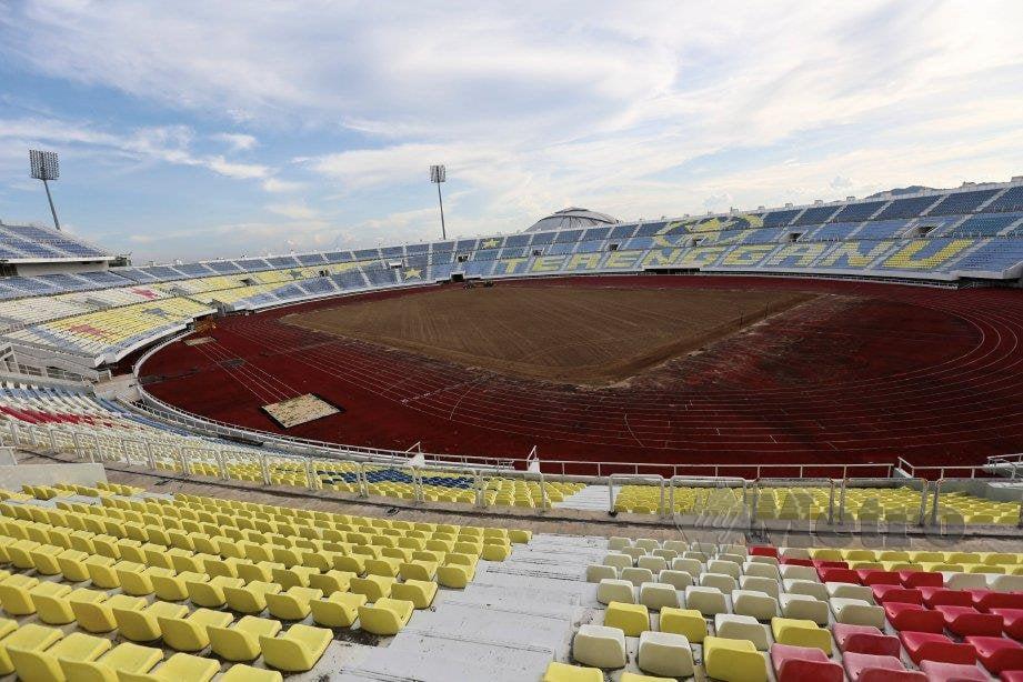 Stadium Sultzan Mizan Zainal Abidin Gong Badak dalam proses baik pulih dan penyelenggaraan. FOTO File NSTP