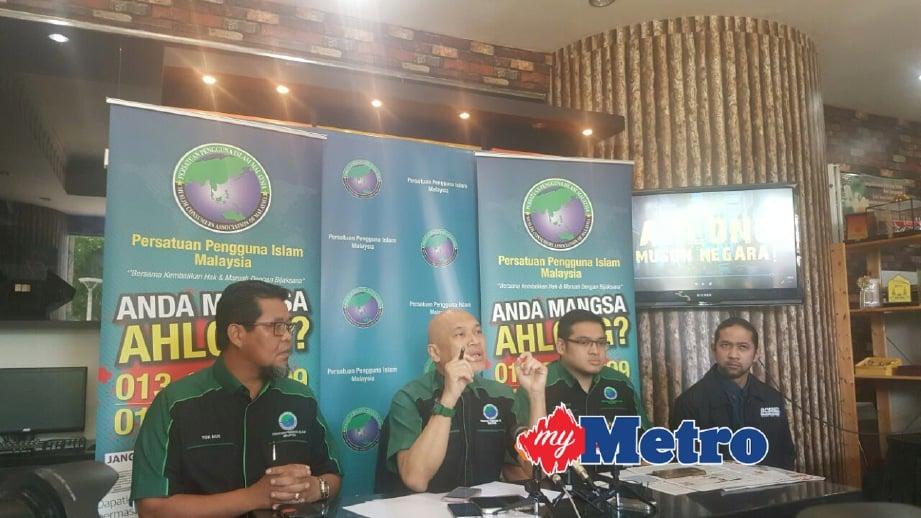 NADZIM (dua kiri) pada sidang media. FOTO Yusmizal Dolah Aling
