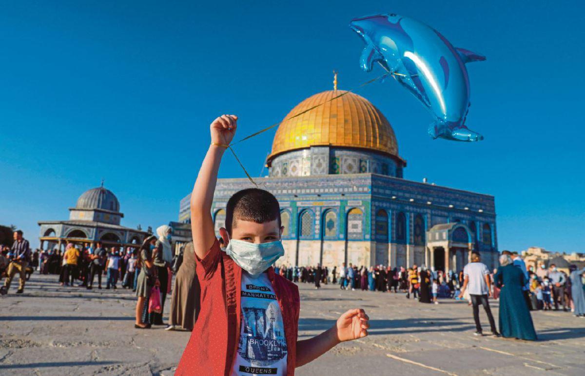 Masjid al-Aqsa di bandar lama Baitulmaqdis yang juga antara masjid terpenting bagi umat Islam. FOTO AFP