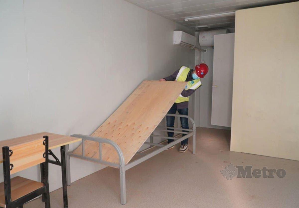 ANTARA ruangan yang siap dan dipasang perabot. FOTO Agensi.