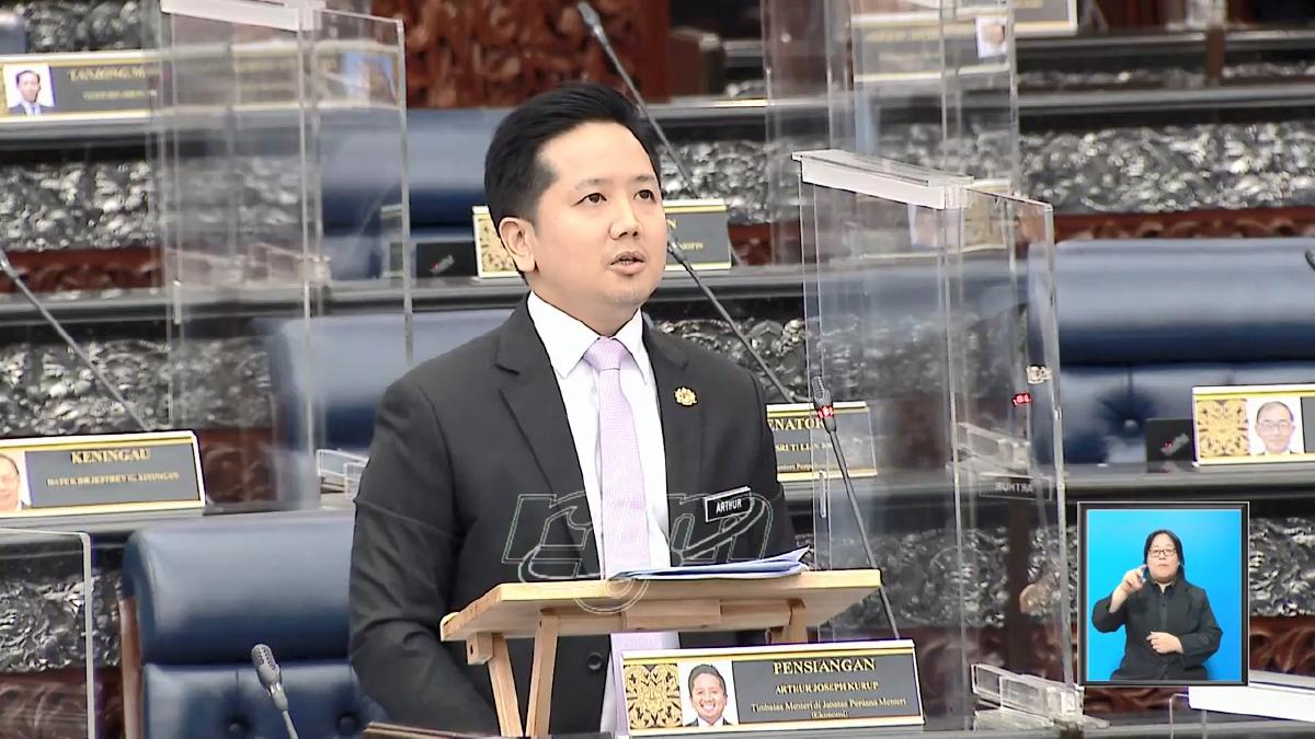 Arthur menjawab soalan di Dewan Rakyat. FOTO YouTube Parlimen Malaysia
