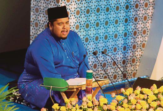 JOHAN qari kebangsaan dan antarabangsa 2014, Ustaz Ahmad Ali memperdengarkan bacaan al-Quran.