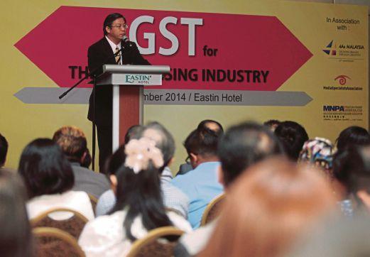 SEMINAR GST untuk industri pengiklanan yang diadakan, semalam.