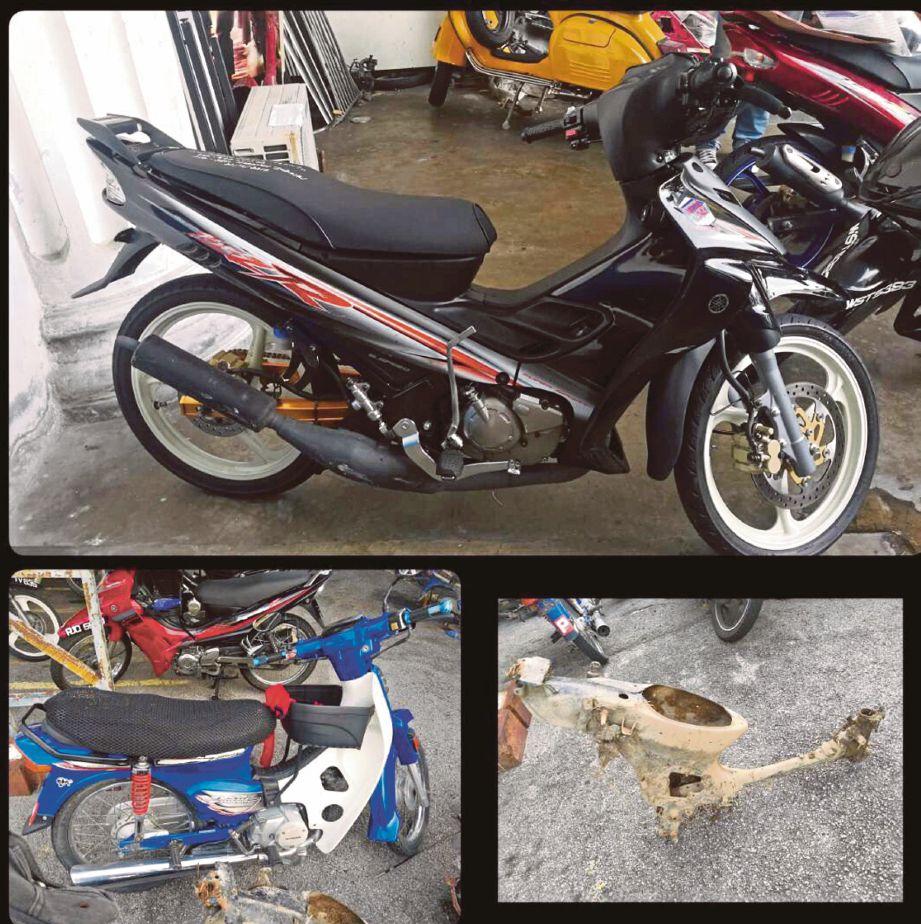 ANTARA motosikal yang dicuri suspek.