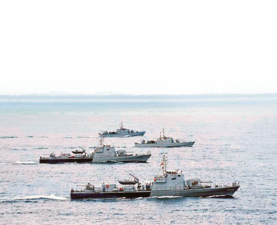 EKSESAIS Perang Borneo yang diadakan di perairan Laut Sulu.