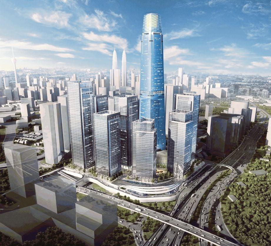 LAKARAN bangunan Exchange 106 yang bakal muncul sebagai bangunan tertinggi di Malaysia.