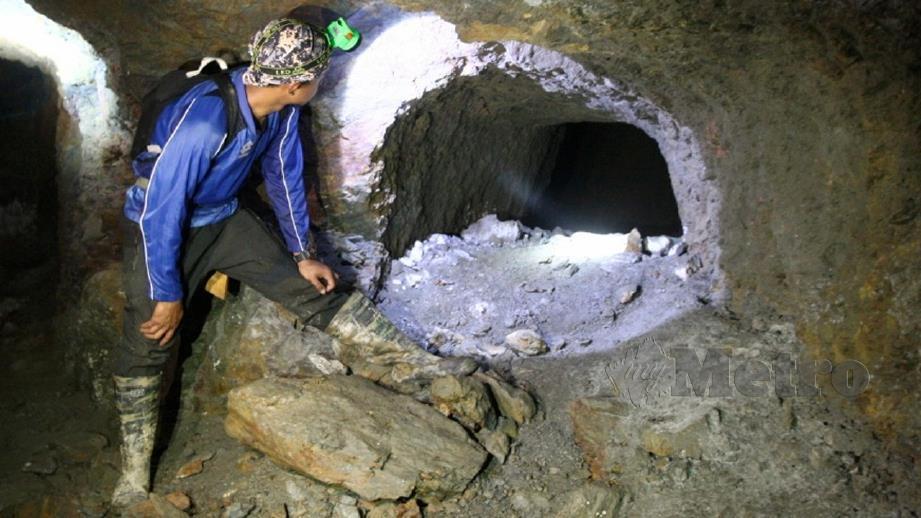 PENEMUAN empat terowong dipercayai dibina sebelum Perang Dunia Kedua sedia dibuka kepada umum. FOTO Zaman Huri Isa