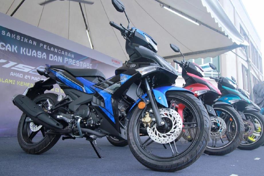 MOTOSIKAL Yamaha Y15ZR yang dilancarkan di Kejohanan Cub Prix Malaysia. FOTO Muhammad Zuhairi Zuber